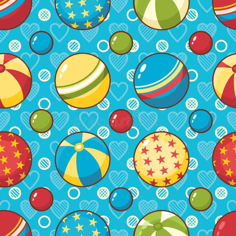 Nahtloses Muster des Kinderspielzeugs Gestaltungselement für Postkarte, Fahne, Flieger lizenzfreie abbildung