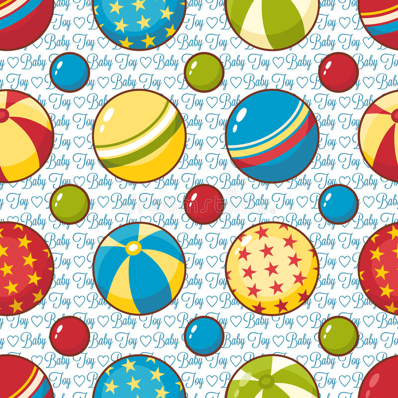 Nahtloses Muster des Kinderspielzeugs Vektorbild, Abbildung vektor abbildung
