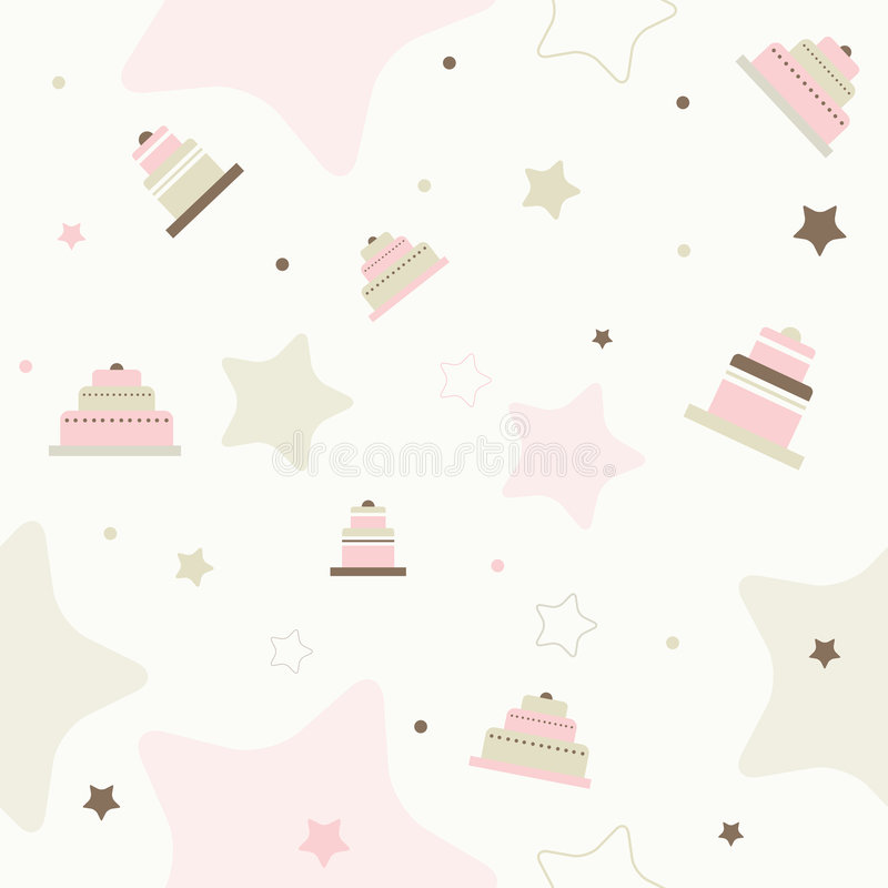 Nahtloses Muster des Kuchens vektor stock abbildung