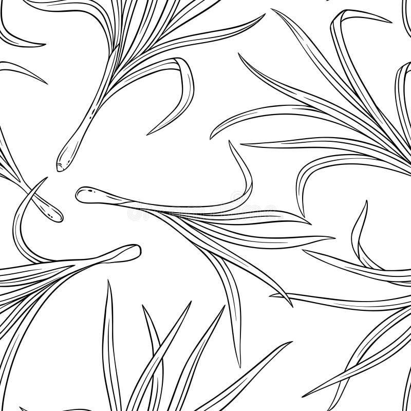 Nahtloses Muster des Lemongrases stock abbildung
