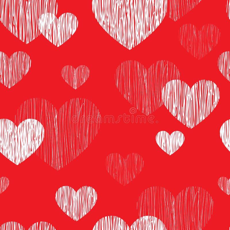 nahtloses Muster des Liebesherzens Glückliche Valentinsgrußtagestapete Lov lizenzfreie abbildung