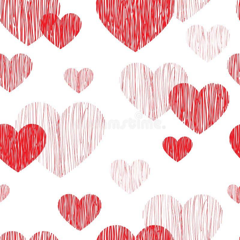 nahtloses Muster des Liebesherzens Glückliche Valentinsgrußtagestapete Lov vektor abbildung