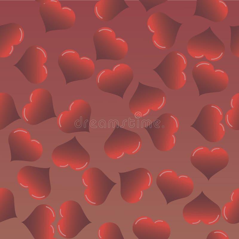 nahtloses Muster des Liebesherzens Vektor lizenzfreie abbildung