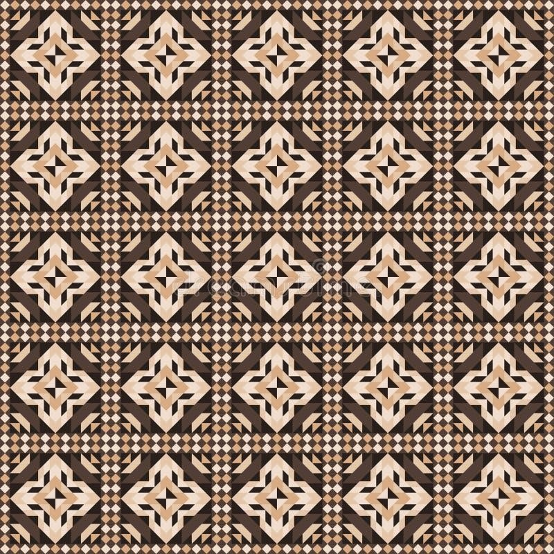 Nahtloses Muster des Linoleums Weiß bewegt herum wellenartig Vektor vektor abbildung