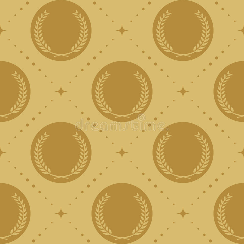 Nahtloses Muster des Lorbeerkranzes stock abbildung