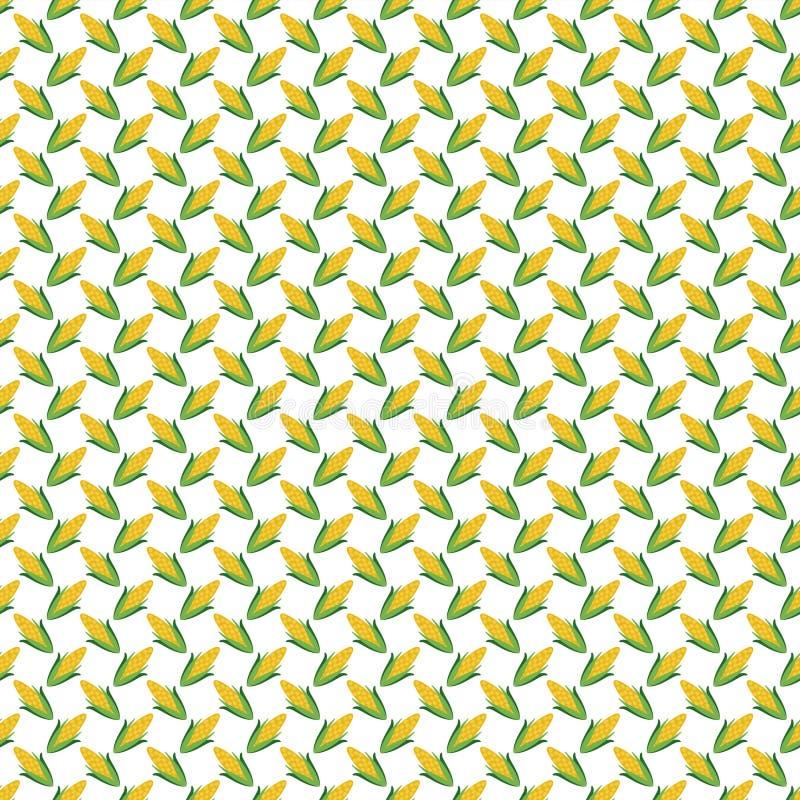 Nahtloses Muster des Mais stock abbildung