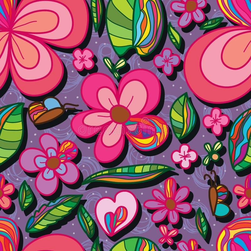 Nahtloses Muster des natürlichen speziellen Blumenblattes der Blume stock abbildung