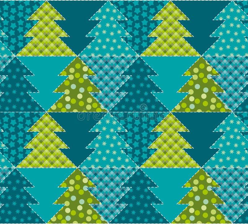 Nahtloses Muster des netten traditionellen Patchworkkonzeptes vektor abbildung