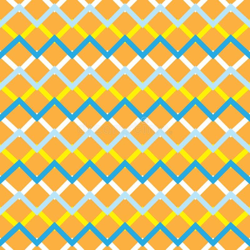 Nahtloses Muster des orange Zickzacks vektor abbildung