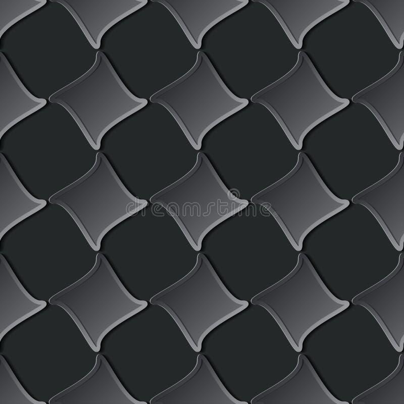 Nahtloses Muster des Papierschnittes mit Raute lizenzfreie abbildung