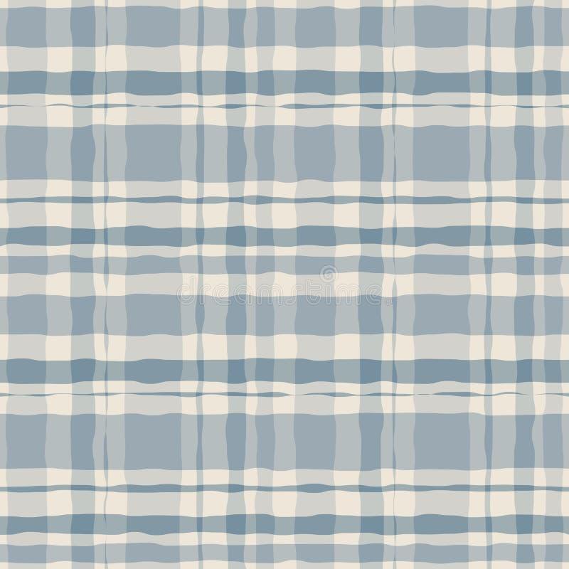 Nahtloses Muster des Pastellaquarellgingham-Plaids stock abbildung