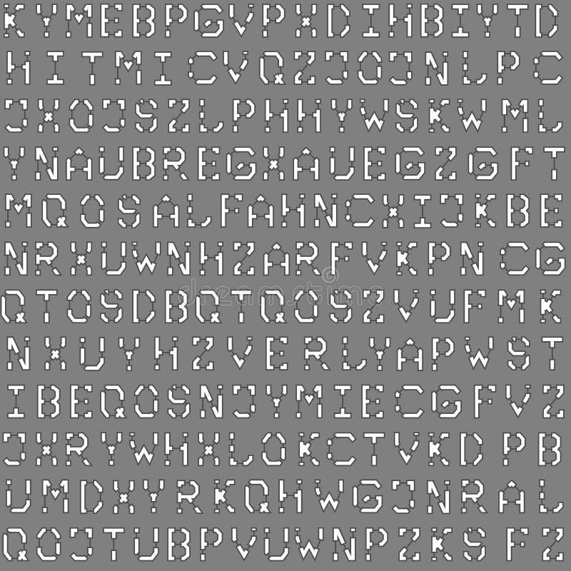 Nahtloses Muster des Planarchitekturgusses für Hintergrund stock abbildung