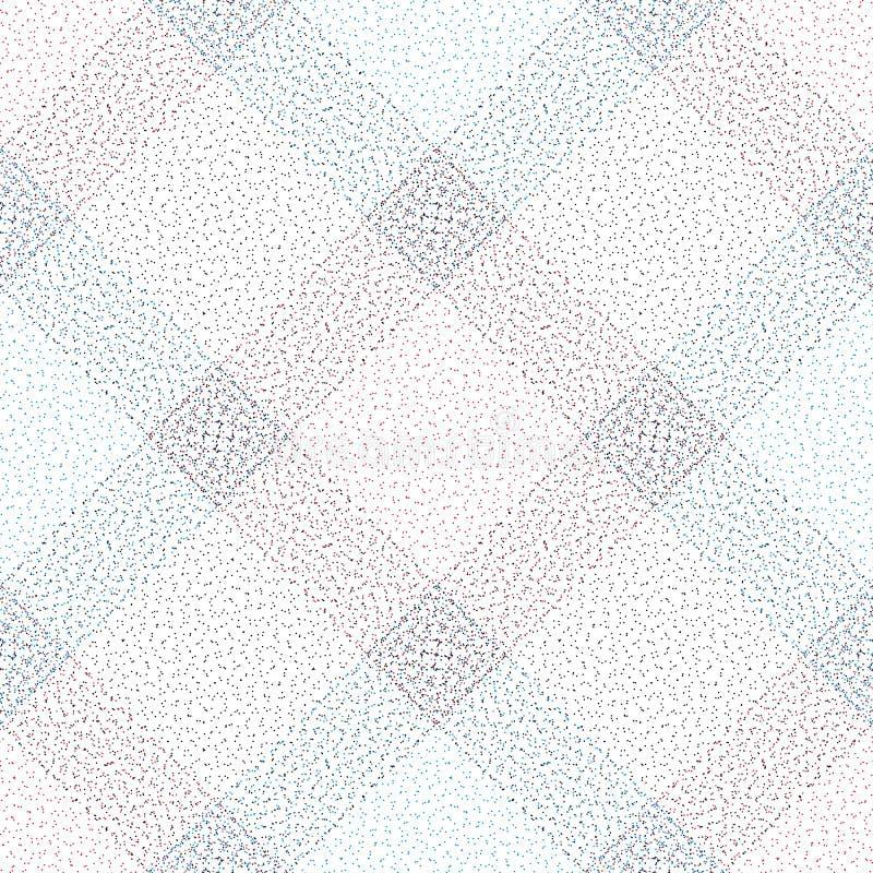 Nahtloses Muster des Punktstreifen-Vektors Zusammenfassung punktierter Gitterhintergrund Schottische Zellmoderne Beschaffenheit f lizenzfreie abbildung