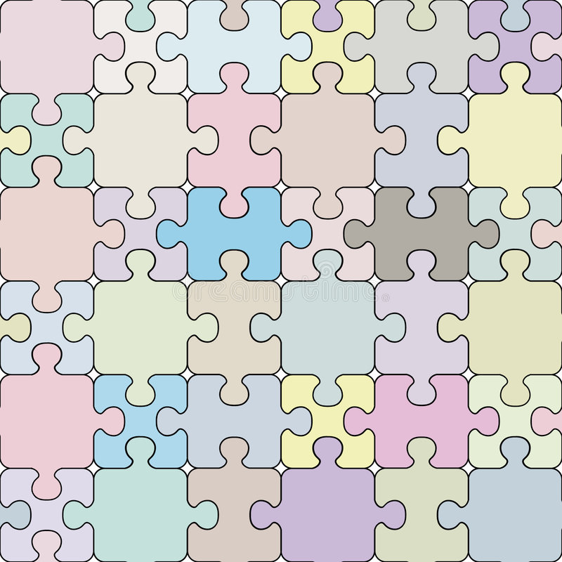 Nahtloses Muster des Puzzlespiels. vektor abbildung