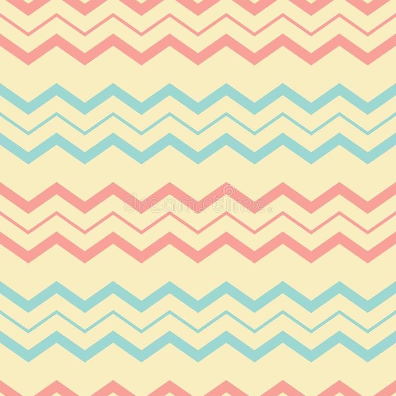 Nahtloses Muster des Retro- Sparrens vektor abbildung