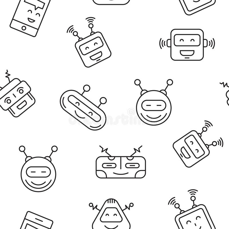 Nahtloses Muster des Roboters lizenzfreie abbildung