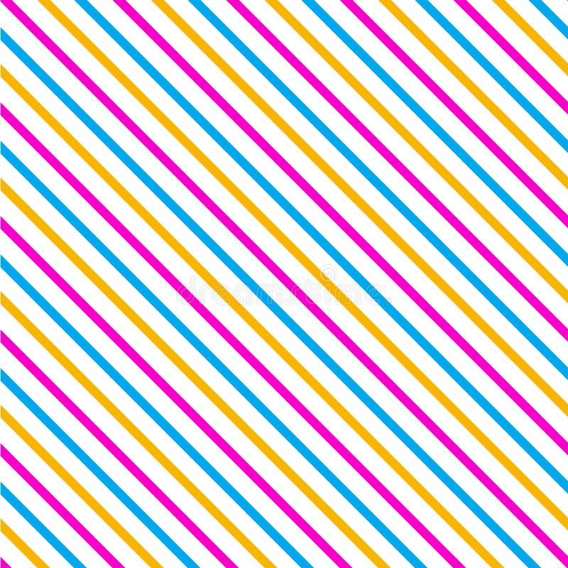 Nahtloses Muster des Schrägstreifens lizenzfreie abbildung