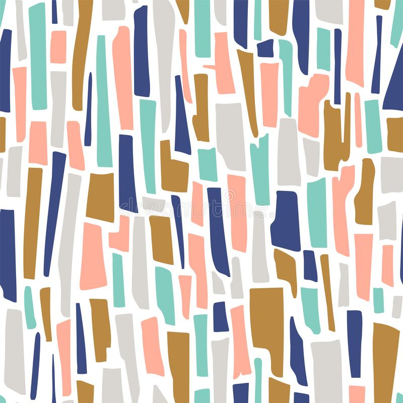 Nahtloses Muster des Terrazzovektors Abstrakter Hintergrund mit Streifen lizenzfreie abbildung