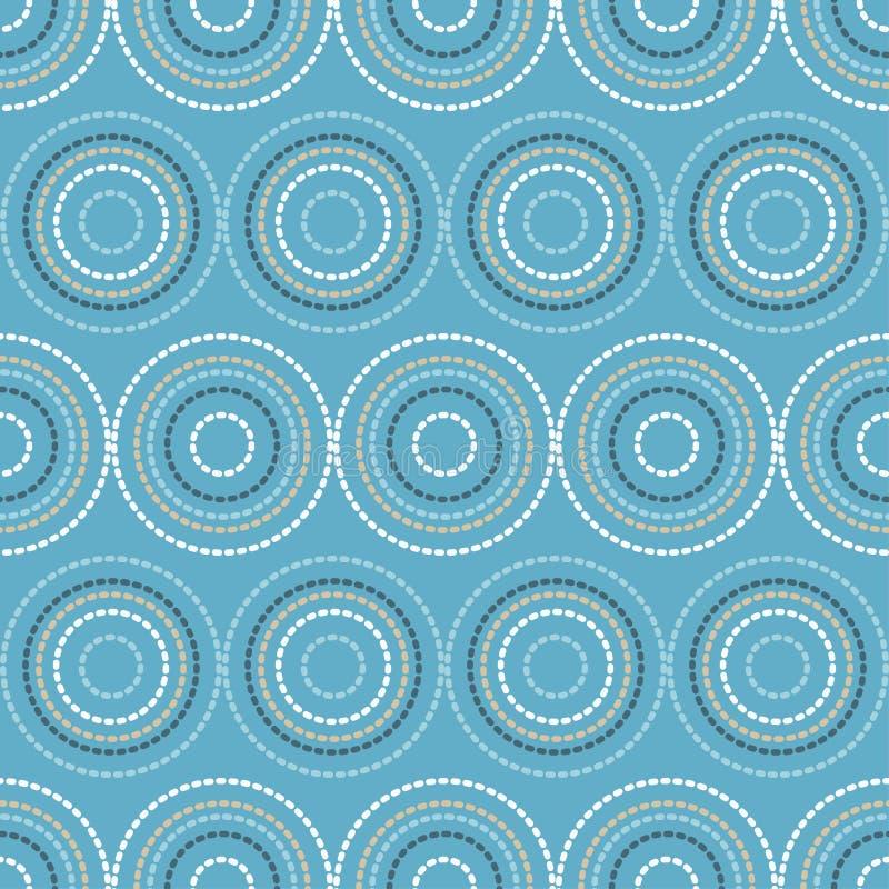 Nahtloses Muster des Tupfens E halbtonbild Geometrischer Hintergrund Gekritzelbeschaffenheit vektor abbildung