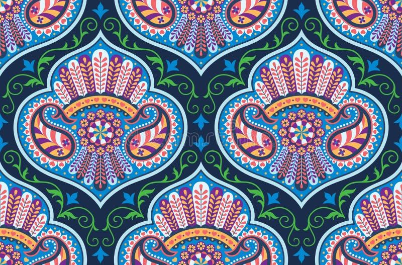 Nahtloses Muster des Vektors für Designschablone; aufwändiger Dekor der Weinlese; Ostartelement Orientalische Luxusdekoration Orn lizenzfreie abbildung