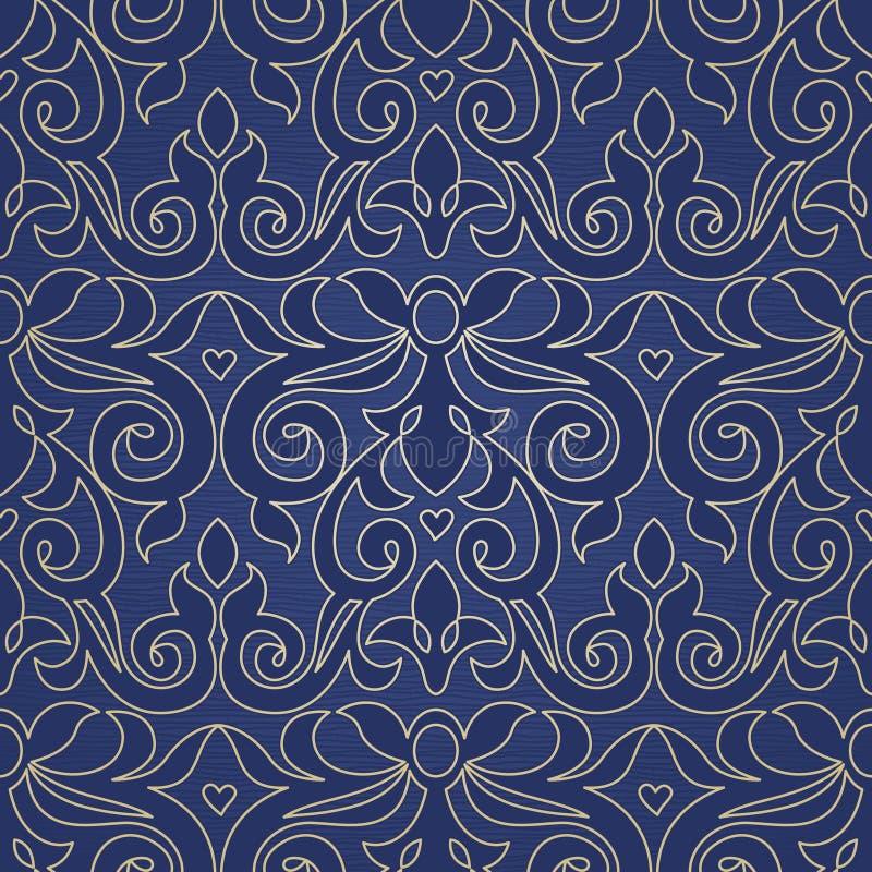 Nahtloses Muster des Vektors im viktorianischen Stil stock abbildung