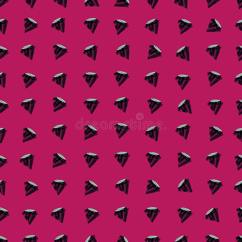 Nahtloses Muster des Vektors mit Diamanten Rosa Hintergrund lizenzfreie abbildung
