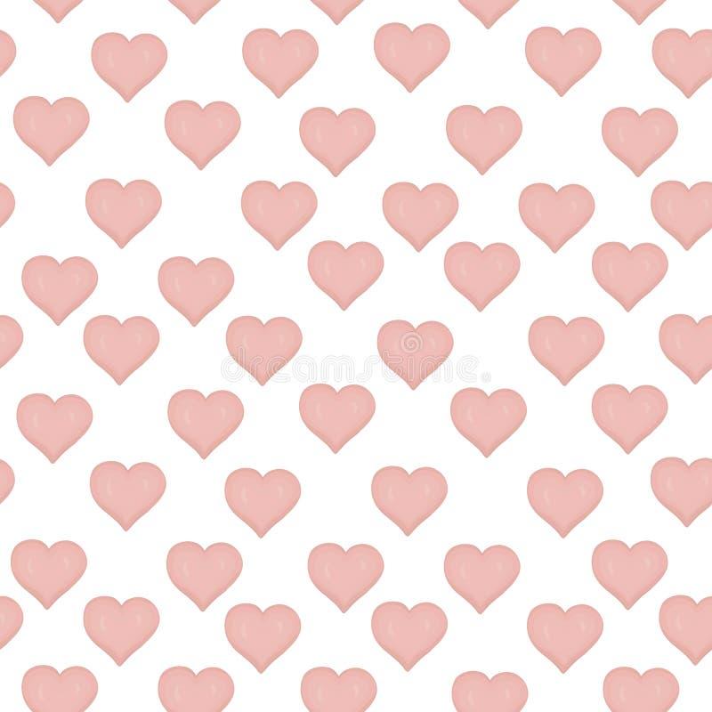 Nahtloses Muster des Vektors mit farbigen Herzen vektor abbildung