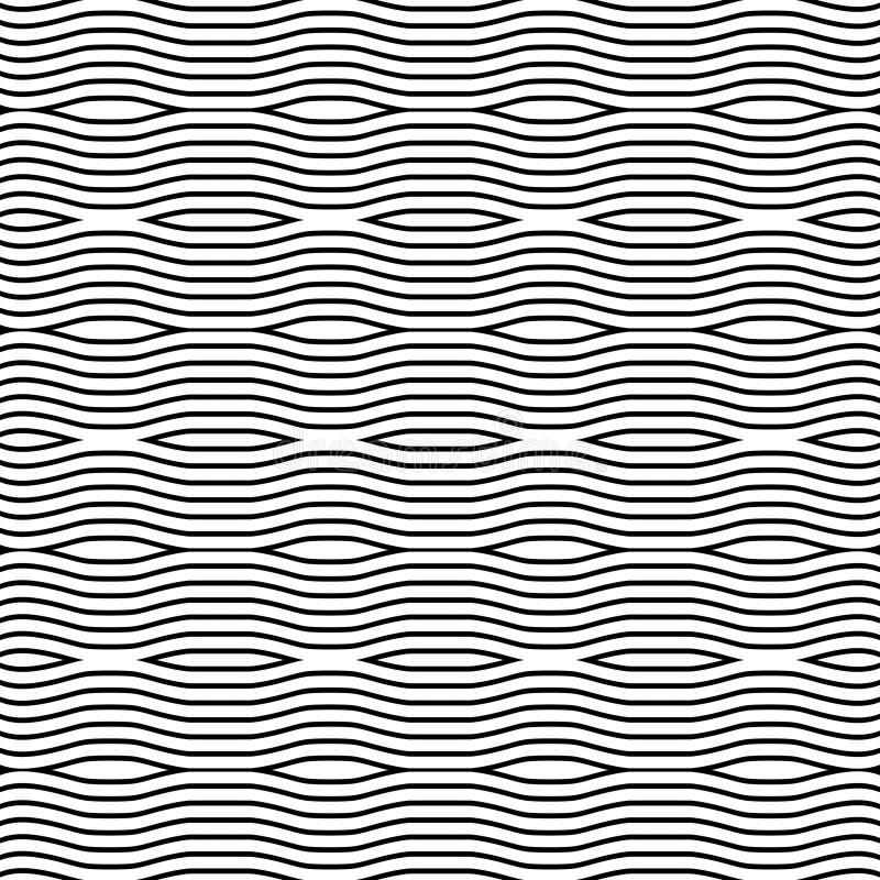 Nahtloses Muster des Vektors, vertikale gewellte Linien Einfacher Hintergrund stock abbildung