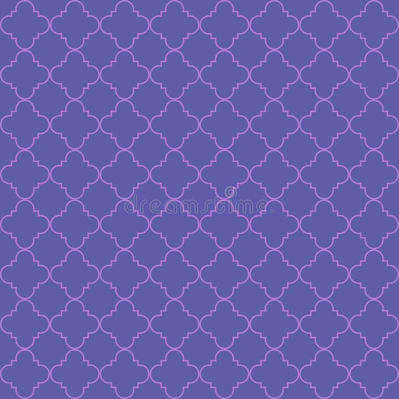Nahtloses Muster des Vektors von abstrakten geometrischen Blumenblättern lizenzfreie abbildung