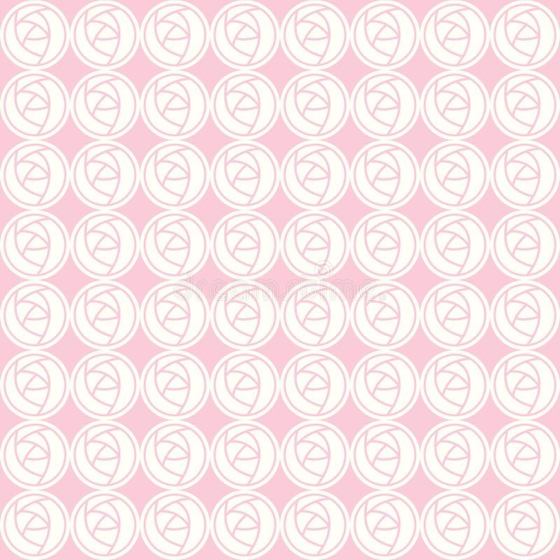 Nahtloses Muster des Vektors von abstrakten Rosen lizenzfreie abbildung