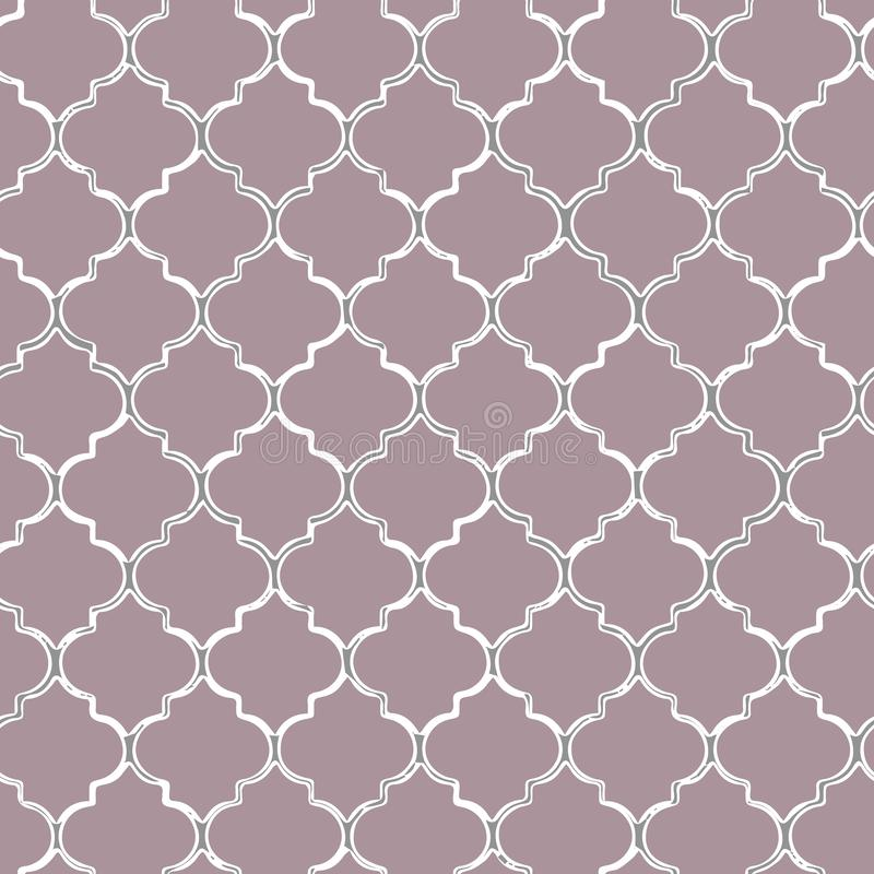 Nahtloses Muster des Vektors von blauem mozaic Marokkanisch-inspirierte Fliesen vektor abbildung