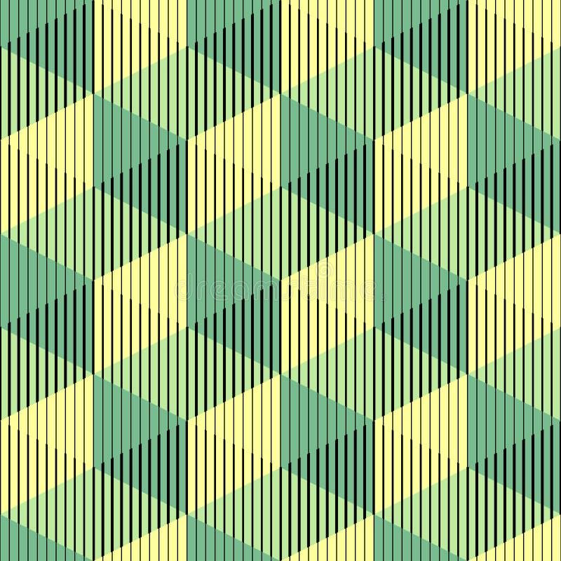Nahtloses Muster des Würfel-3d Abstrakter minimalistic Hintergrund Vect stock abbildung