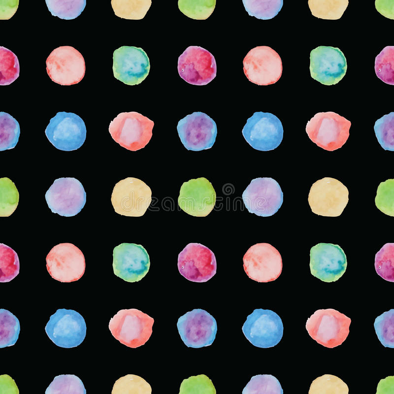 Nahtloses Muster des Watercolourtupfens lizenzfreie abbildung