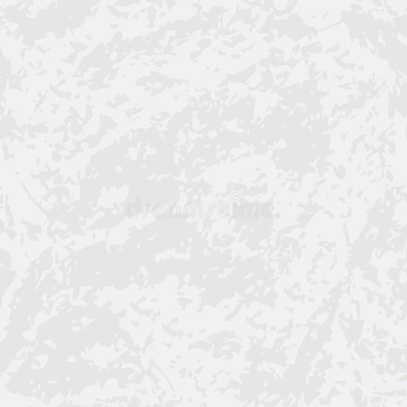 Nahtloses Muster des weißen Schmutzes mit grauem mable strukturiertem Effekt lizenzfreie abbildung