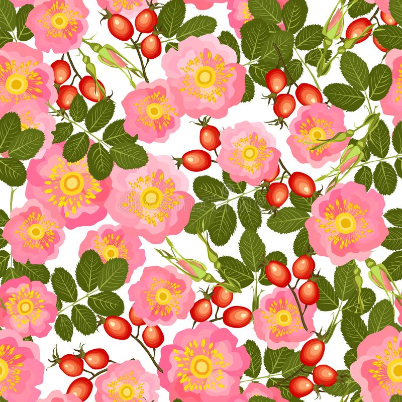 nahtloses Muster des wilden rosafarbenen Vektors lizenzfreie abbildung