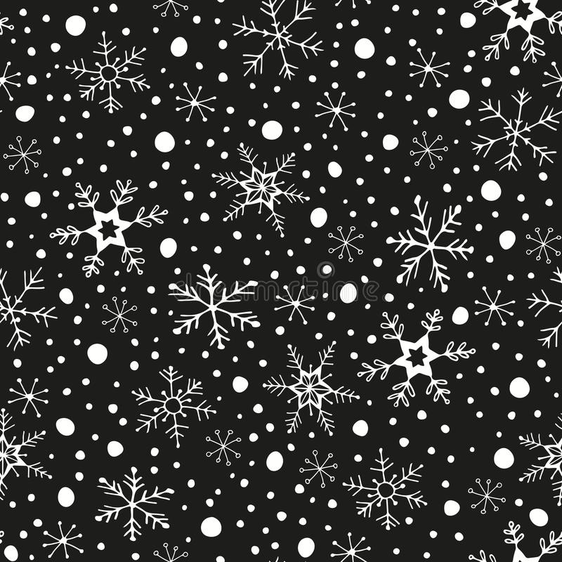 Nahtloses Muster des Winters stockfotografie