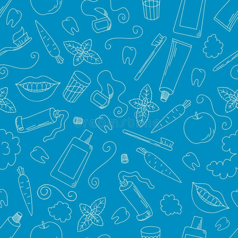 Nahtloses Muster des Zahnpflegen stockbilder