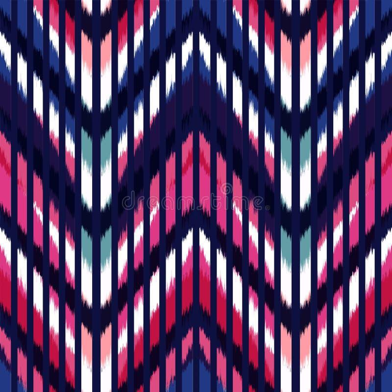 Nahtloses Muster-Design Ikat für Gewebe vektor abbildung