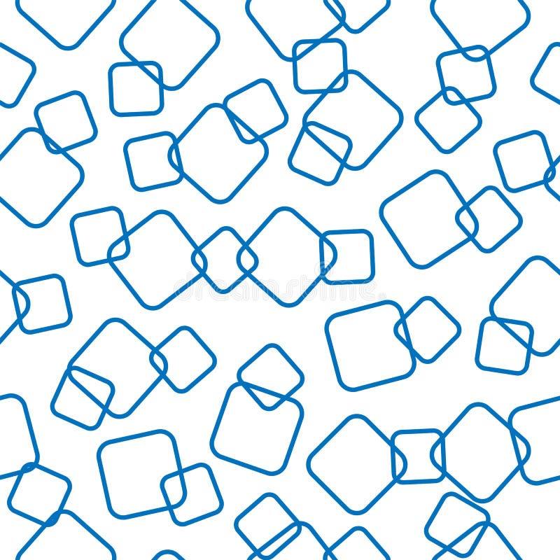 Nahtloses Muster Die Konturen der schneidenen Quadrate lizenzfreie abbildung