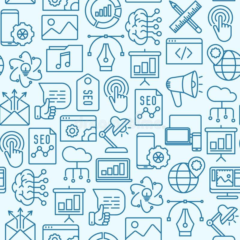 Nahtloses Muster Digital-Marketings vektor abbildung