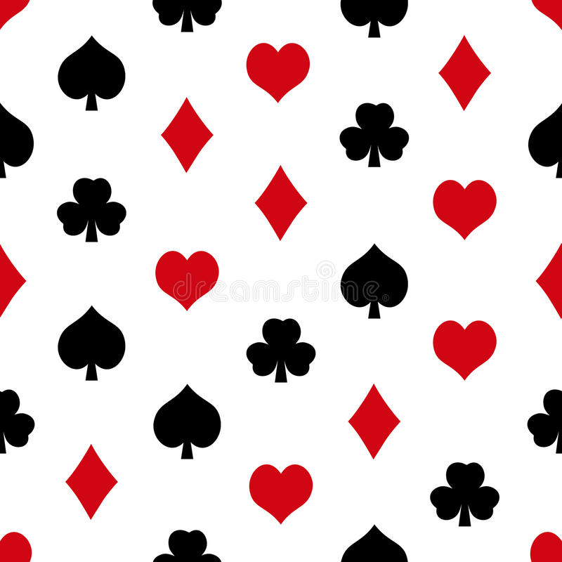 Nahtloses Muster eps10 des Spielkartesymbolsatzes stock abbildung