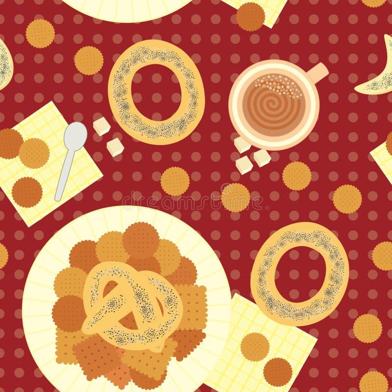 Nahtloses Muster für das Mittagessen stock abbildung