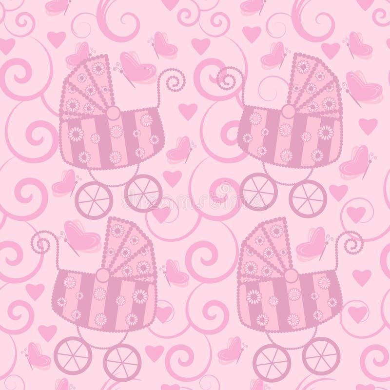 Nahtloses Muster für kleine Mädchen vektor abbildung