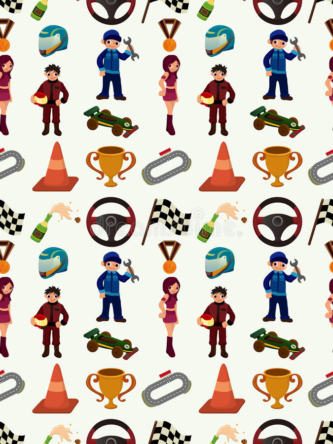 Nahtloses Muster F1 Stockfoto