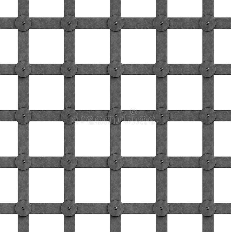 Nahtloses Muster in Form eines Eisengitters Mittelalterliche Art Die Türen des Tors Abbildung vektor abbildung