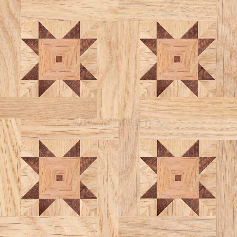 Nahtloses Muster, Fragment des Parkettbodens lizenzfreie abbildung