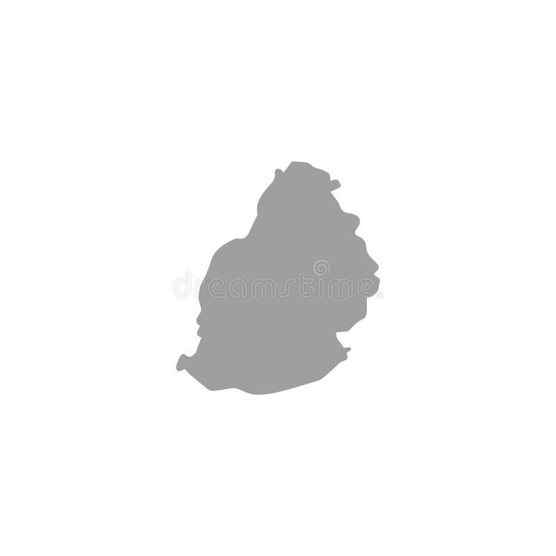 Nahtloses Muster gefüllt mit Karten von mauritus Weiße Schattenbilder auf grünem Hintergrund stock abbildung