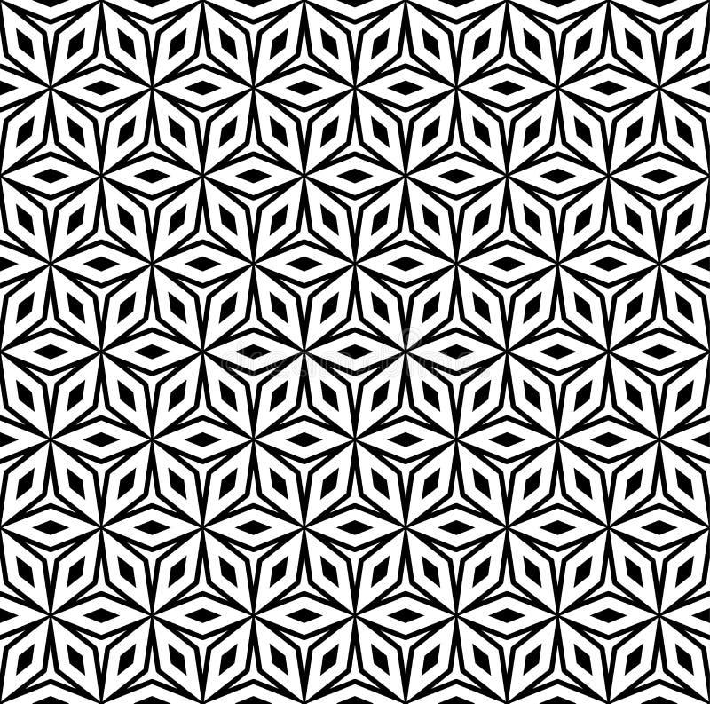 Nahtloses Muster, geometrische dekorative Beschaffenheit lizenzfreie abbildung