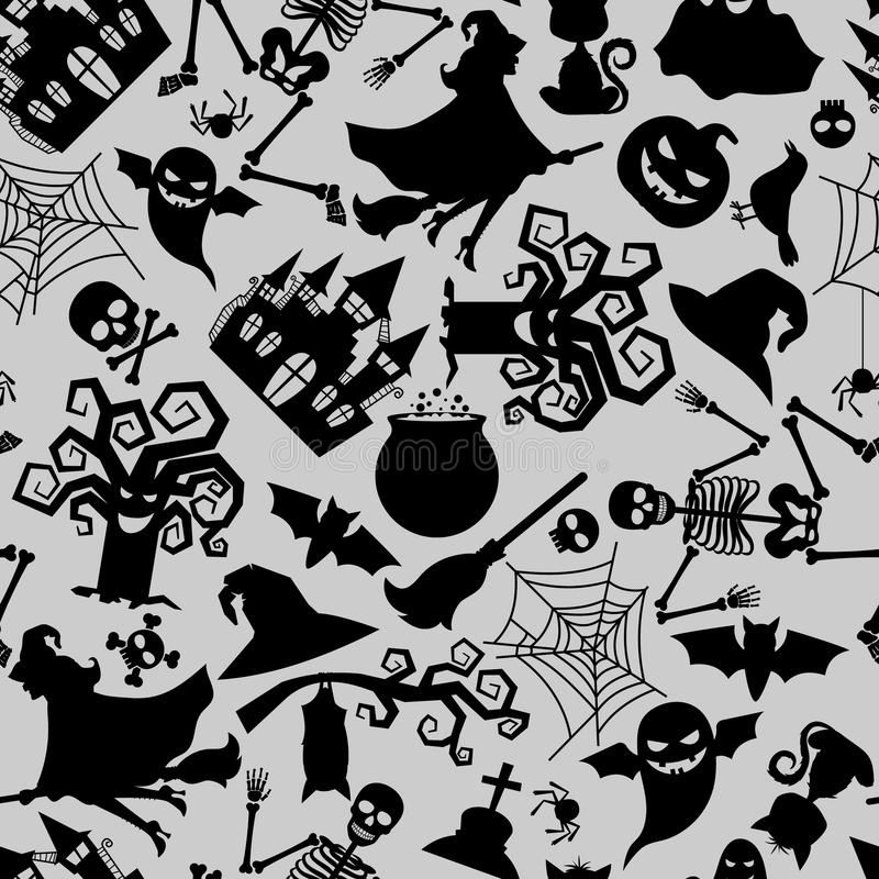 Nahtloses Muster glücklichen Halloween-Vektors vektor abbildung
