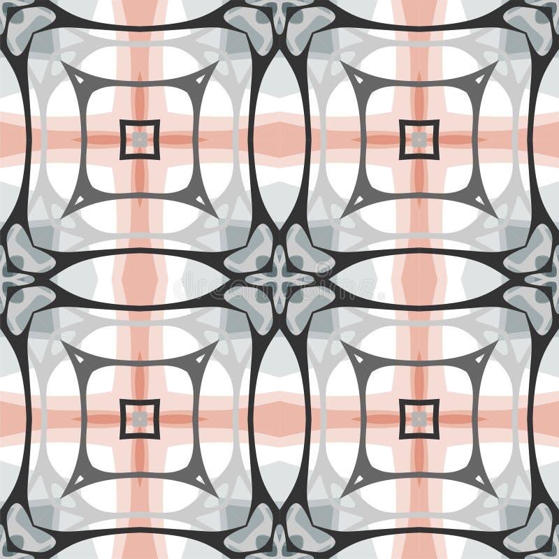 Nahtloses Muster, glatte Linien Geometrische moderne Beschaffenheit lizenzfreie abbildung